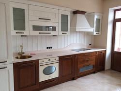 Кухня в стиле кантри частного дома