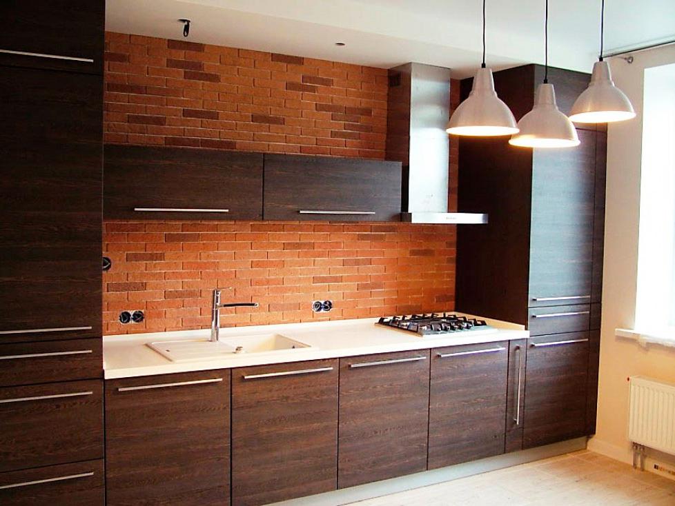 Кухня прямая из ДСП в стиле Лофт