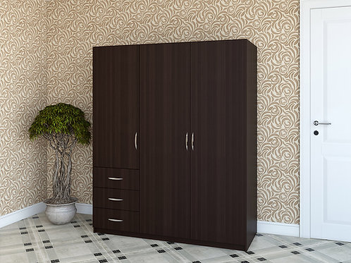 Распашной шкаф Вега темный