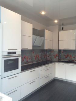 Белая угловая кухня, Вид 2