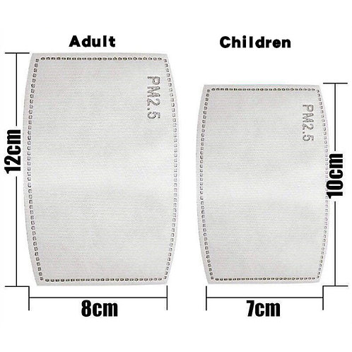 Children 500 pcs Quality PM2.5 Filters