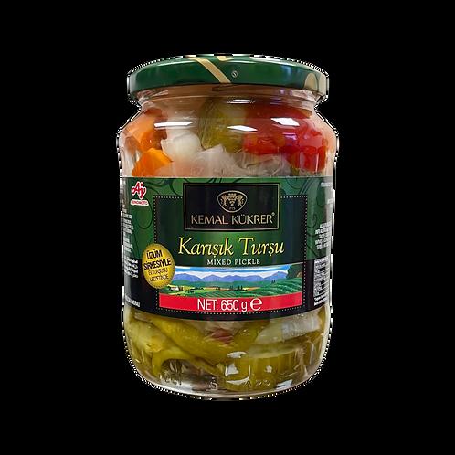 Kemal Kukrer Mixed Pickles |720 ml|مخلل مشكل \ عبوة زجاج