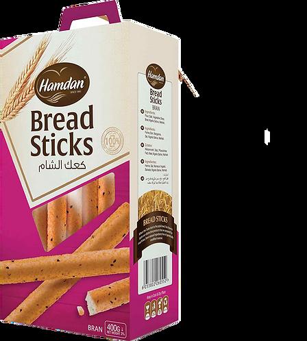 Hamdan Breadsticks Bran 400 g كعك الشام نخالة