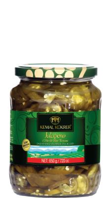Kemal Kukrer Jalapeno Pepper Pickles |720 ml|مخلل شرائح الهالبينو