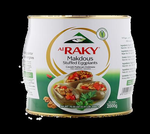Al Raky Stuffed Eggplants In Oil|2000 g|مكدوس باذنجان محشي جوز
