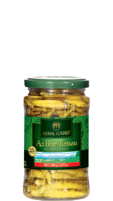 Kemal Kukrer Hot Pepper Pickles |370 ml|مخلل الفليفلة الحار \عبوة زجاج