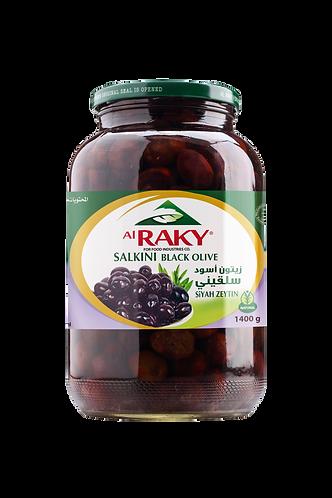 Al Raky Salkini Black Olive  1400 g زيتون اسود سلقيني أول
