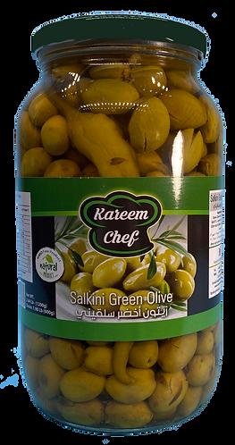 KareemChef Salkini Green Olive |1200 g|زيتون اخضر سلقيني