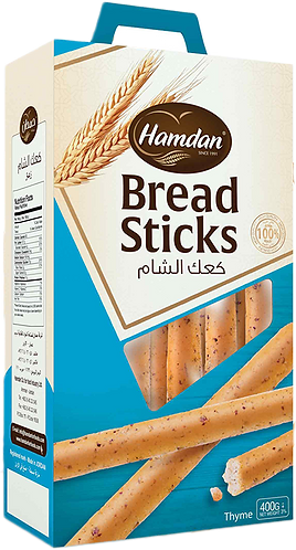 Hamdan Breadsticks Thyme|400 g|كعك الشام زعتر