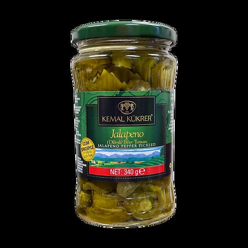 Kemal Kukrer Jalapeno Pepper Pickles |370 ml|مخلل شرائح الهالبينو