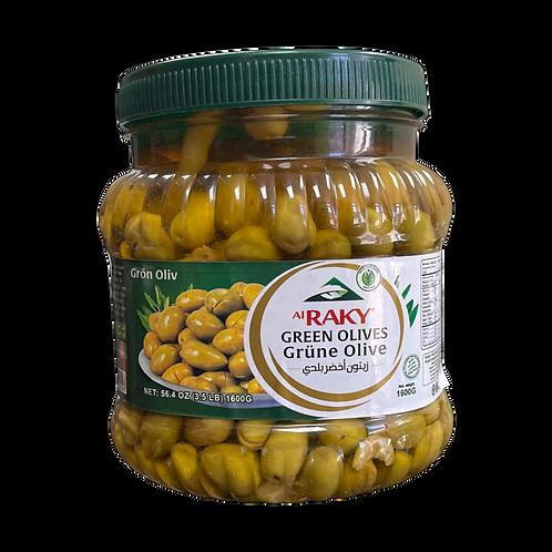 Al Raky Baladi Green Olive |1500 g|زيتون اخضر بلدي أول