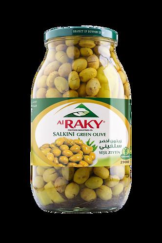 Al Raky Salkini Green Olive |2900 g|زيتون اخضر سلقيني أول