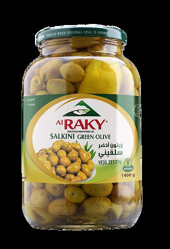 Al Raky Salkini Green Olive |1400 g|زيتون اخضر سلقيني أول