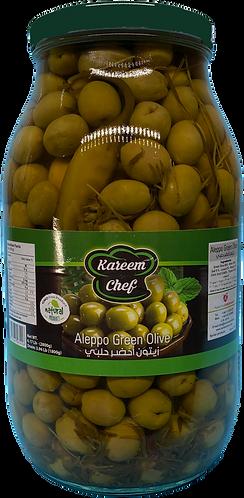 KareemChef Aleppo Green Olive |2900 g|زيتون  أخضر حلبي زهرة