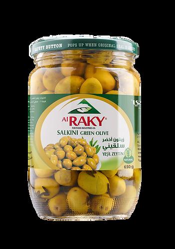 Al Raky Salkini Green Olive |650 g|زيتون اخضر سلقيني أول
