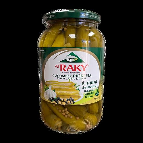 Al Raky Cucumbers Pickles W/ Spices|1050 g|مخلل خيار زهرة مع توابل