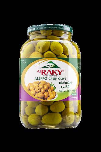 Al Raky Aleppo Green Olive  1400 g زيتون  أخضر حلبي زهره