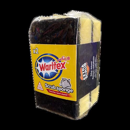 WARITEX Scrub Sponge HD |2 Pcs| ليفة  سيفة ثنائية (للتنظيف الصعب )