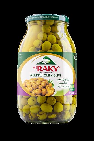 Al Raky Aleppo Green Olive  2900 g زيتون  أخضر حلبي زهره