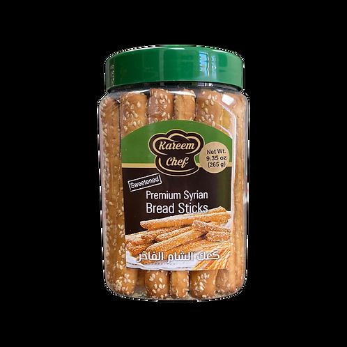 KareemChef Sweetened Sesame Breadsticks|265 g|كعك الشام المحلى بالسمسم