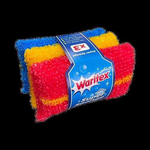 WARITEX Super Sponge 3 Pcs  ليفة  جلي ثلاثية /  سوبر