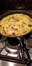 Frittata with Roasted Vegetables and Goat Cheese
