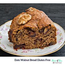 Walnut Date Bread Gluten Free
