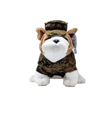 Large Stuffed Bulldog in Uniform