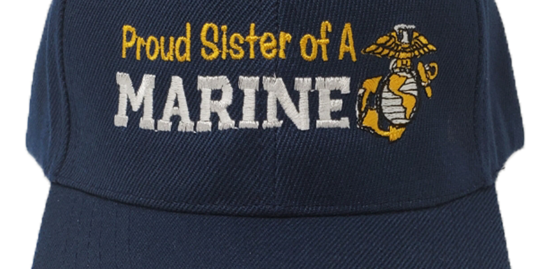 Proud Sister of a Marine Navy Blue Hat