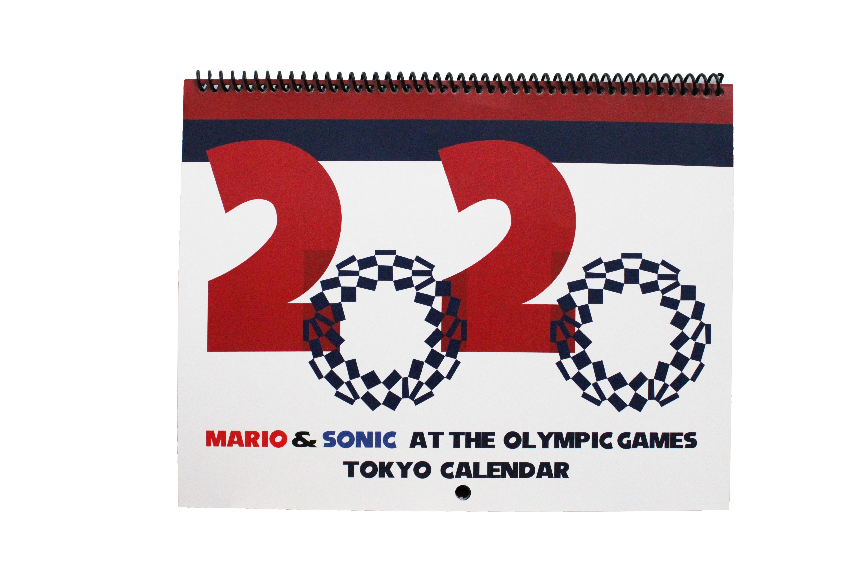 Mario and Sonic Tokyo 2020 Calendar