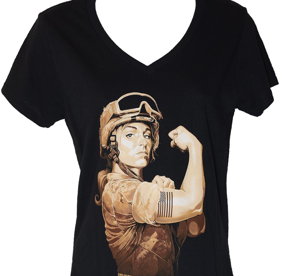 Woman Marine Black T Shirt