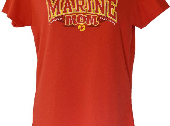 Proud Marine Mom Red T Shirt