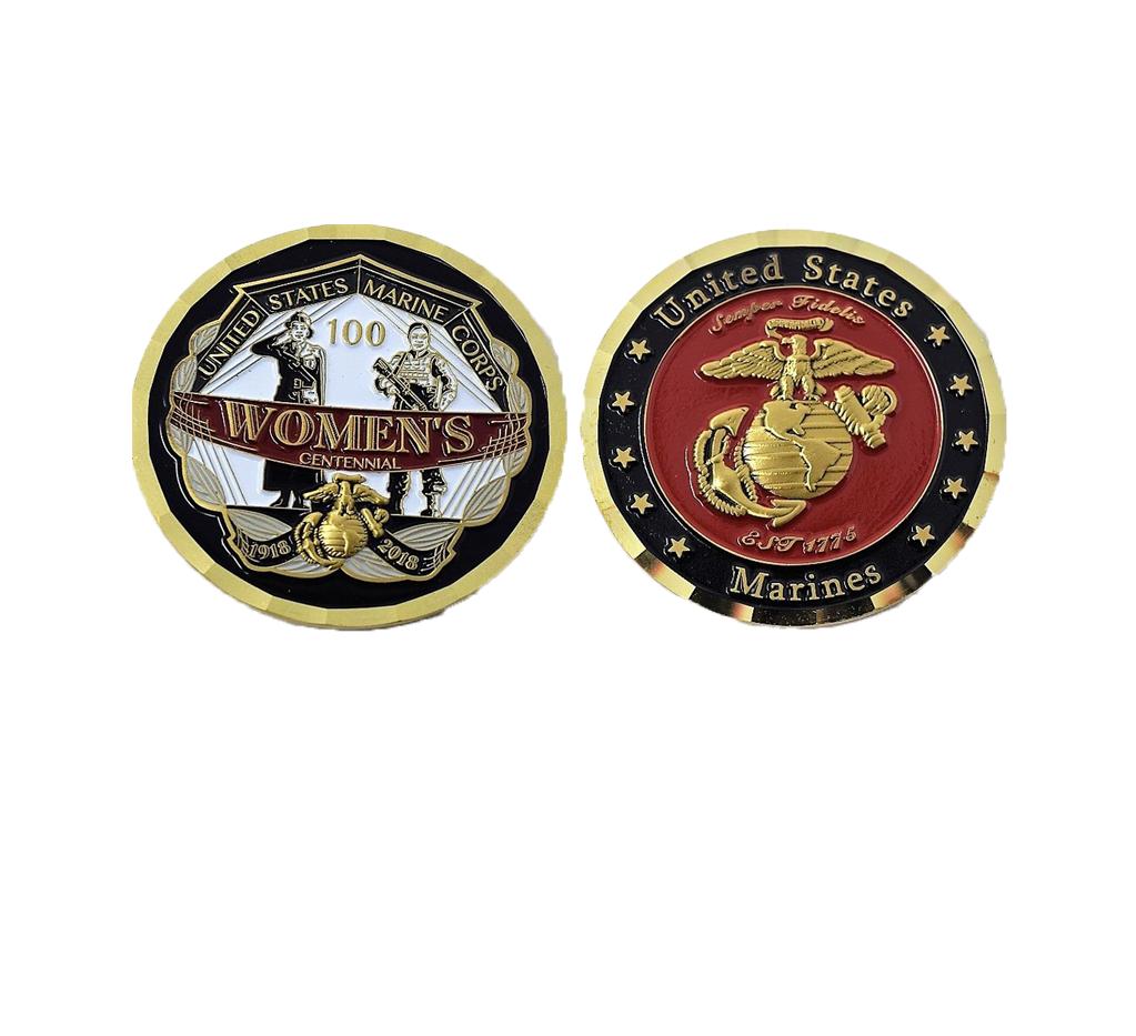 Women Marines Centennial Challenge Coin