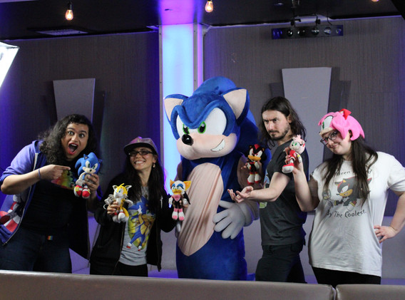 Team 182 with Mascot Sonic