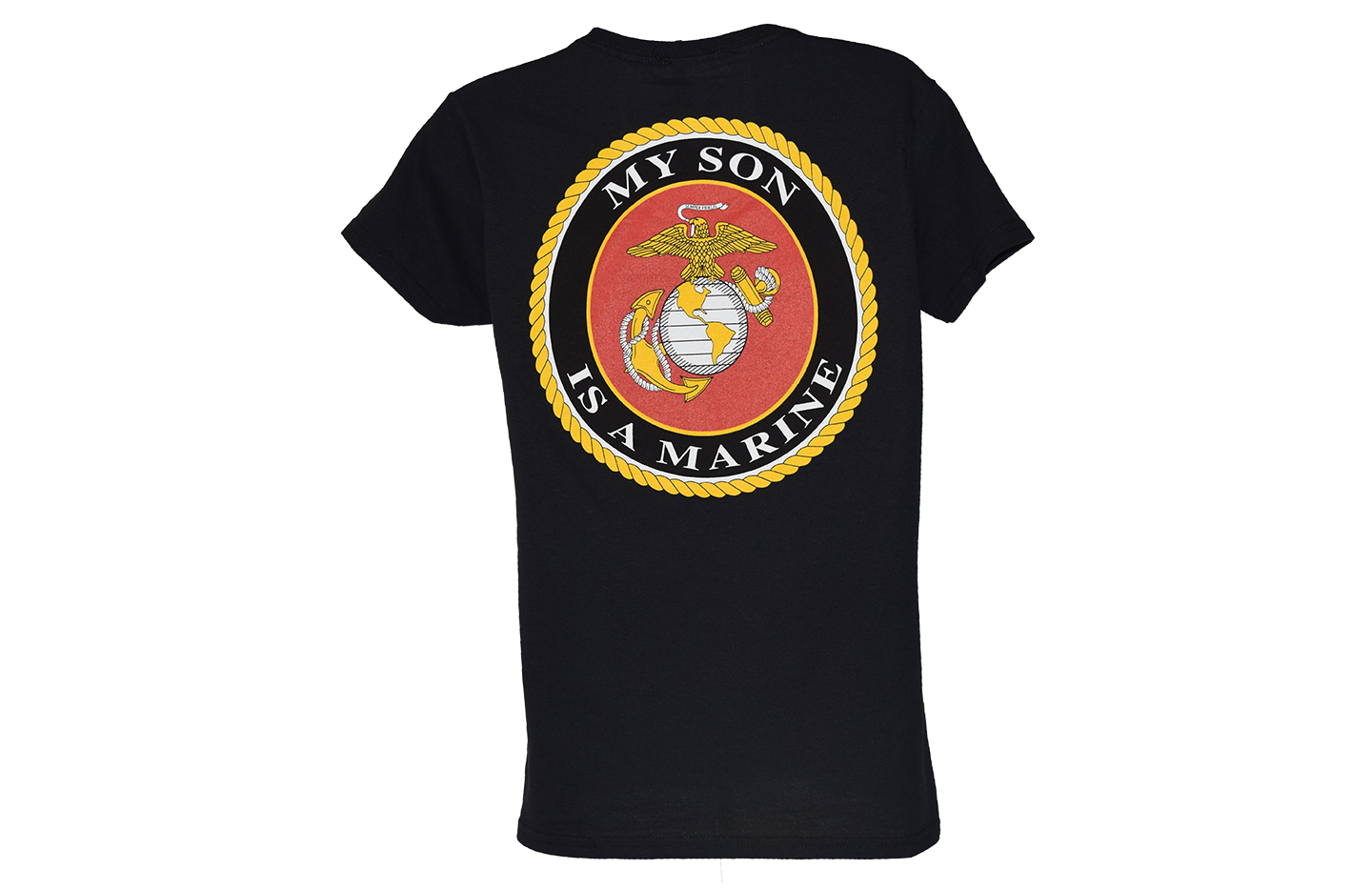 My Son is a Marine Womens V Neck T Shirt