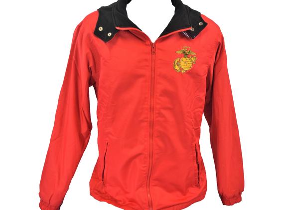 EGA Red Black Reversible Fleece Jacket