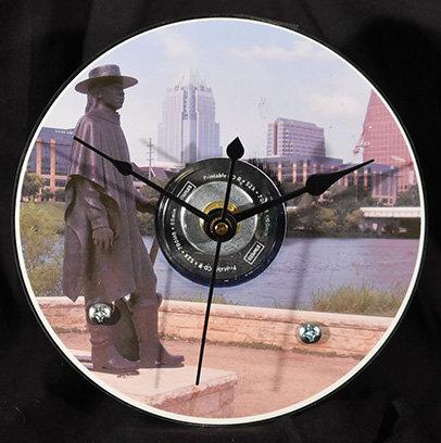 Austin Scenes - Stevie Ray Vaughn Clock