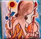 Squid Tile Magnet