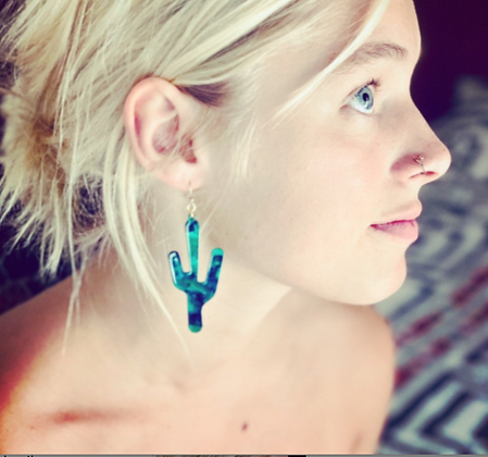 Acetate Cactus Earrings