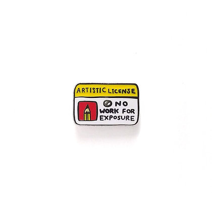 Artistic License Hard Enamel Pin