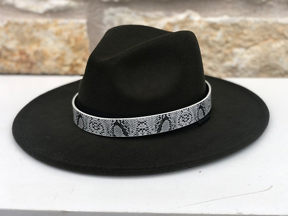 Snakeskin Leather Hat Band