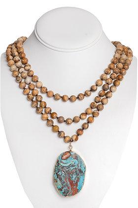 Aqua Terra Wrap Necklace