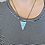 Thumbnail: Turquoise Howlite Triangle Necklace