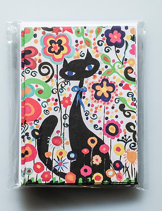 Flower Cat Greeting Cards