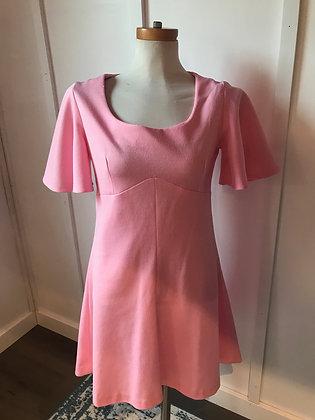 Pink mod 1970's dress