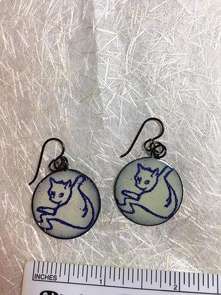 Yoga Cat Earrings