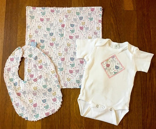 Llama Baby Gift Set