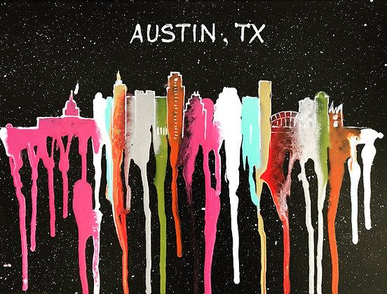 Austin Original Acrylic Pouring - Black