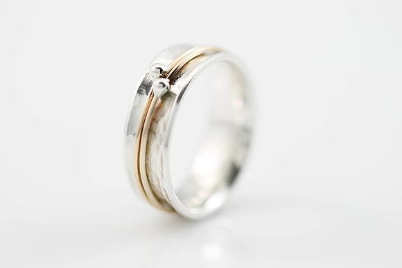 Narrow Orbit Meditation Ring