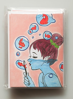 Bubble Fish Greeting Cards